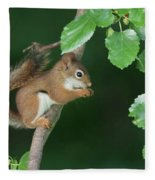 Munching Mulberries Fleece Blanket