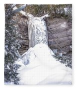 Munising Fall Michigan Fleece Blanket