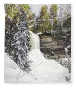 Munising Fall Upper Michigan Fleece Blanket