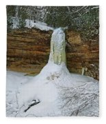 Munising Falls Frozen Fleece Blanket