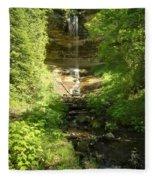 Munising Falls Fleece Blanket