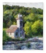 Munising Grand Island Lighthouse Upper Peninsula Michigan Pa 01 Fleece Blanket