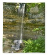 Munising Waterfall Fleece Blanket