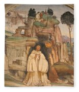 Mural Church Art Fleece Blanket