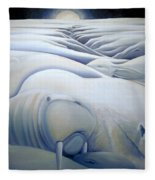 Mural  Winters Embracing Crevice Fleece Blanket