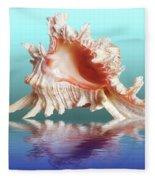 Murex Seashell Reflection Fleece Blanket