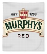 Murphys Irish Red Fleece Blanket