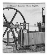 Murrays Portable Steam Engine, 19th Fleece Blanket