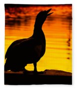 Muscovy Sunset Fleece Blanket
