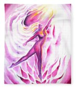 Muse Of Dance Fleece Blanket