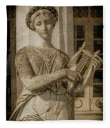 Achilleion, Corfu, Greece - The Muse Terpsichore Fleece Blanket