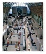 Museum D'orsay Paris Fleece Blanket