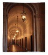 Museum Hallway Fleece Blanket