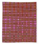Mushroom # 7979 Abstract Fleece Blanket