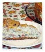 Mushroom And Crab Savory Cheesecake Fleece Blanket