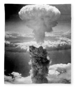 Mushroom Cloud Over Nagasaki  Fleece Blanket