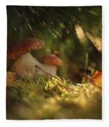 Mushroom Fleece Blanket