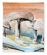Mushroom Heaven Fleece Blanket