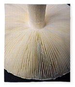 Mushroom Macro Expressionistic Effect Fleece Blanket