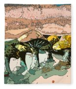 Mushroom Rows Fleece Blanket