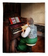 Music - Organist - The Lord Is My Shepherd  Fleece Blanket