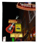 Music City Nashville Fleece Blanket