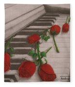 Music Creates Beautiful Things Fleece Blanket