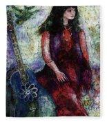 Music Feeds Her Spirit Too Fleece Blanket