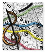 Music Gives Life Fleece Blanket