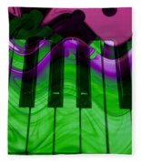 Music In Color Fleece Blanket
