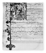 Music Manuscript, 1450 Fleece Blanket