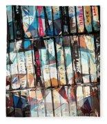 Musical Cassette Tapes Collage Fleece Blanket