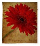 Musical Gerbera Fleece Blanket