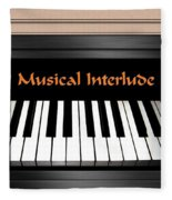 Musical Interlude Fleece Blanket