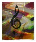 Musical Waves Fleece Blanket