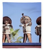 Musicians At The Hotel California Todos Santos Mx Fleece Blanket