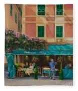 Musicians' Stroll In Portofino Fleece Blanket