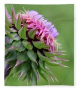 Musk Thistle In Bloom Fleece Blanket