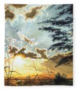 Muskoka Dawn Fleece Blanket