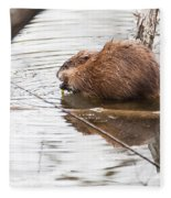 Muskrat Spring Meal Fleece Blanket