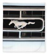 Mustang Logo Fleece Blanket