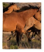 Mustang Run Fleece Blanket