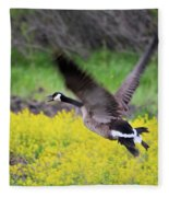 Mustard Flight Fleece Blanket