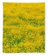 Mustard Flowers Fleece Blanket