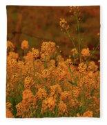 Mustard Garden Fleece Blanket