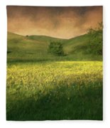 Mustard Grass Fleece Blanket