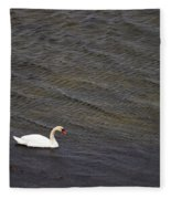 Mute Swan 1 Fleece Blanket