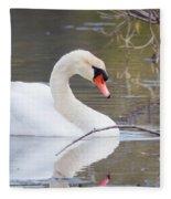 Mute Swan I Fleece Blanket