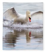 Mute Swan Plunge Fleece Blanket