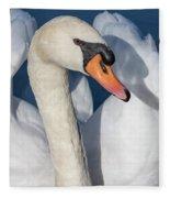 Mute Swan Portrait Fleece Blanket